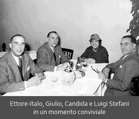 Ettore-Italo, Giulio, Candida e Luigi Stefani